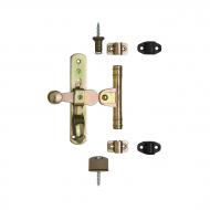 Оконная фурнитура стальная с желтым оцинкованным или черным покрытием, артикул 600SET.