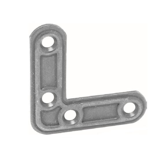 Уголок из стали, штампованный, оцинкованный, артикул 153