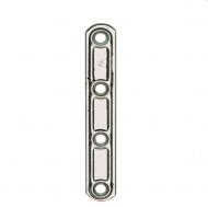 Штампованная прямая стальная пластина с отверстиями, артикул 163.