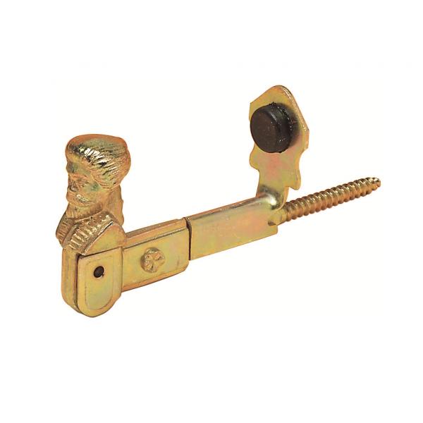 Стопор для жалюзи из оцинкованной стали с желтым покрытием, из стали с черным покрытием, артикул 714.