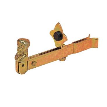 Стопор для жалюзи из оцинкованной стали с желтым покрытием, из стали с черным покрытием, артикул 720.