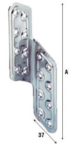 Крепеж для деревянных балок изогнутый угловой правый из нержавеющей стали, артикул 781IN.