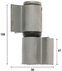 Петля приварная с подшипником, две открытые створки 100 мм 1081