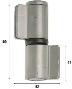 Петля приварная с подшипником, две закрытые створки 100 мм 1083