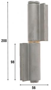Петля приварная, две открытые створки 200 мм 1084