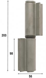 Петля приварная с подшипником, две открытые створки 203 мм 1085