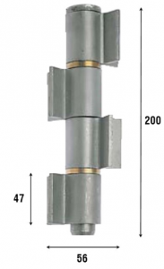 Петля приварная, четыре открытые створки 200 мм 1092