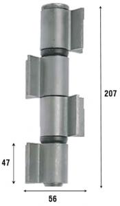 Петля приварная с подшипником, четыре открытые створки 207 мм 1093