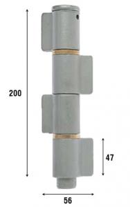 Петля приварная, четыре закрытые створки 200 мм 1094