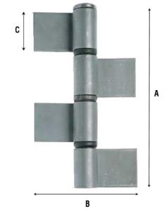 Петля приварная усиленная с подшипником, четыре створки 1105