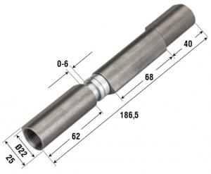 Петля приварная регулируемая три створки с подшипником для бронированных дверей 1252