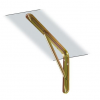 Кронштейны стальные из белой или желтой оцинкованной стали, артикул 2521