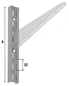 Кронштейны с направляющими из стали с серебристым и белым покрытием, артикул 2750.
