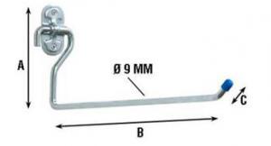 Крюк L-образный 4030