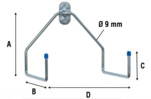Крюк двойной L-образный 4070
