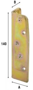 Соединитель балок плоский 800PIA