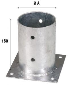 Стакан опорный для бруса, круг 805