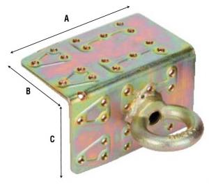 Соединитель угловой перфорированный с кольцом 864