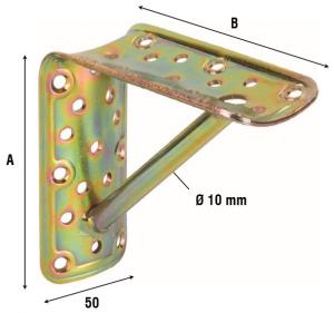 Соединитель округлых брусков угловой с фиксатором 906