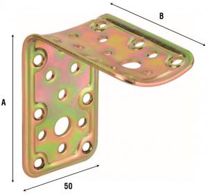 Соединитель округлых брусков односторонний угловой встык 910